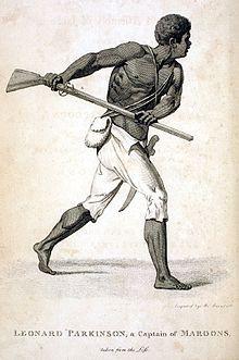 Leonard Parkinson, Maroon Leader, Jamaica, 1796.jpg