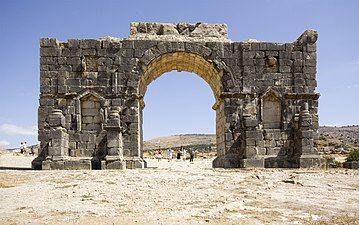 View of the other side of the triumphal arch