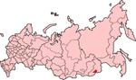 Map showing Agin-Buryatia in Russia