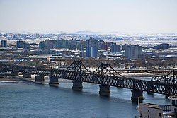 Aerial view of Downtown Sinuiju.jpg