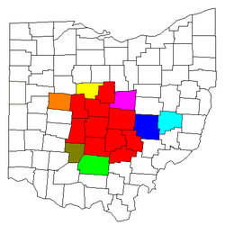 Map of Central Ohio