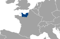 Location and extent of Normandy