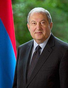 President of the Republic of Armenia Armen Sarkissian (cropped).jpg