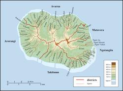 Districts and tapere of Rarotonga
