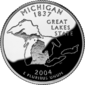 Michigan quarter dollar coin