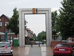 The Paalse Poort, gateway on Beringen's central square