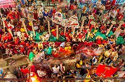 cap go meh festival in pekanbaru, Riau Indonesia