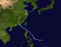 热带风暴芸蒂的路径图