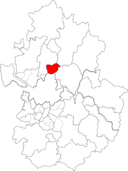议政府市在京畿道的位置图
