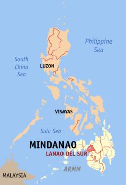 南拉瑙省在菲律宾上的位置