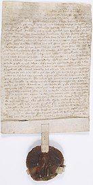 Manuscrit portant le sceau de Louis IX.