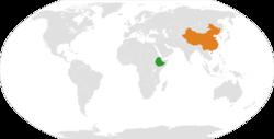 Ethiopia和China在世界的位置
