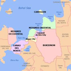 北棉兰老在菲律宾上的位置
