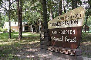 Sam Houston National Forest sign.jpg