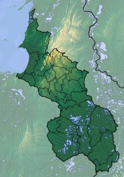 苏克雷省地形图