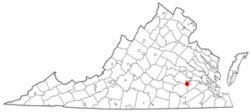 弗吉尼亚州的位置
