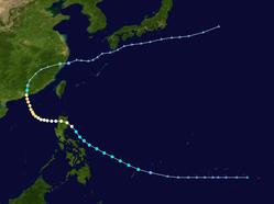 强台风黛蒂的路径图