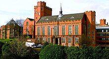 Red brick university building