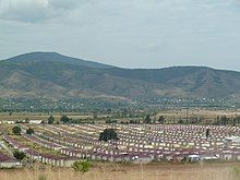 Large group of small, identical homes