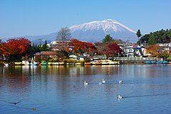 高松の池と岩手山 Takamatsu-no-Ike Pond ^ Mt. Iwate - panoramio.jpg