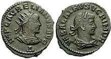 Front and back of ancient coin