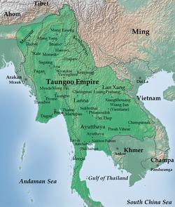 东吁王国疆域(1580年)