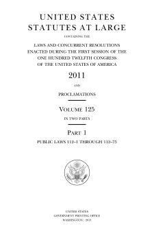 United States Statutes at Large Volume 125.djvu