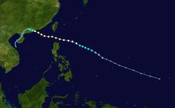 强台风温黛的路径图