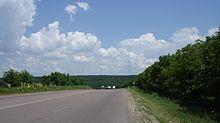 Rural, four-lane road