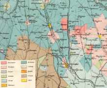Old, multicolored map
