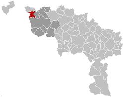 Estaimpuis Hainaut Belgium Map.png