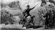 Etching depicting Lafayette ordering his troops to fire