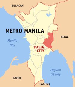 帕西格在菲律宾上的位置