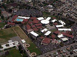 Aerial photograph of campus