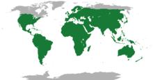 Range of the lizards, all species.