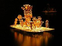 Muisca raft, most prominent piece of gold working by the Muisca