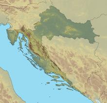 Battle of Lissa (1866) is located in Croatia