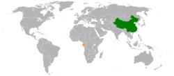 China和Gabon在世界的位置