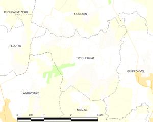 特雷乌埃尔加市镇地图