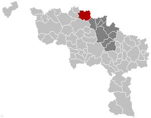 Lessines Hainaut Belgium Map.png