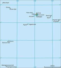 波纳佩州地图