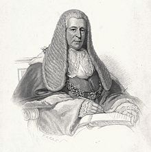 Charcoal portrait of Thomas Langlois Lefroy in judicial wig and robe