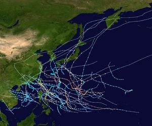 1961 Pacific typhoon season summary map.png