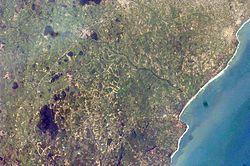 阿克拉市卫星图