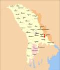 Map of Moldova highlighting Bender