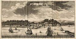 马六甲港口图像-1724年