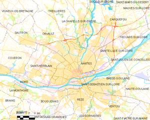 南特市镇地图