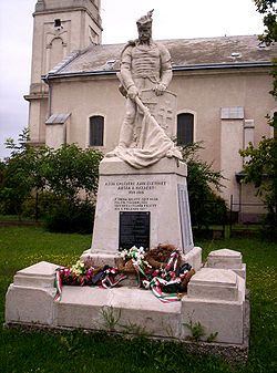 World War I Memorial in Solt, Hungary.