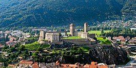Castelgrande Bellinzona in late-August 2004