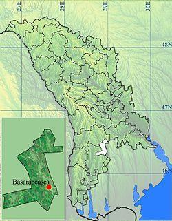 Location of Basarabeasca